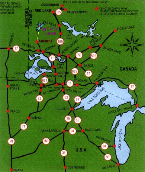 Northwestern Ontario Locator Map